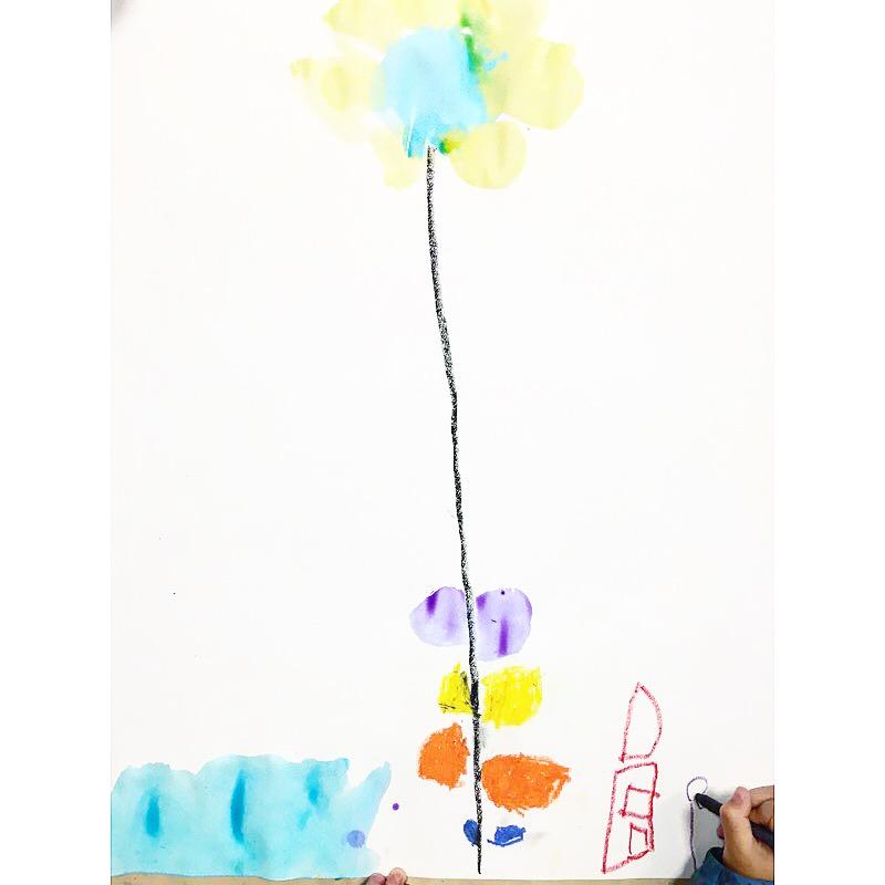 fleur encre